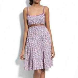 Trina Turk Purple Serpentine Crocheted Lace Dress